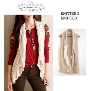 ANTHROPOLOGIE KNITTED & KNOTTED lace Sweater Vest